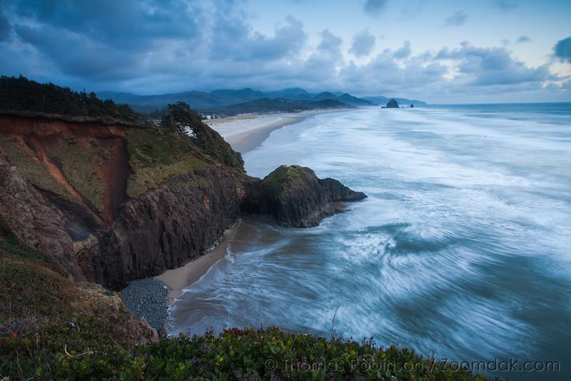 Turbulent Ocean, Cannon Beach Evening