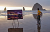 Plein Air Painter in Cannon Beach
