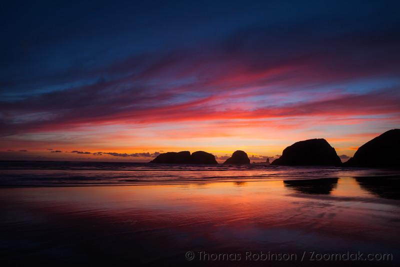 Oregon Coast Spectacular Sunset