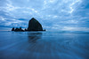 Stormy Evening at Haystack Rock