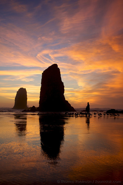 Cannon Beach Vertical - Needles at Sunset