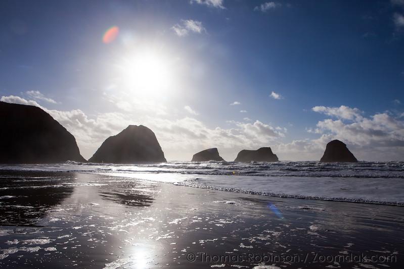 Winter Sun at Crescent Beach
