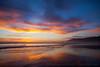 Big Sunset Sky on Pacific Ocean's Edge
