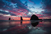 Spectacular Summer Sunset in Cannon Beach on the Oregon Coast