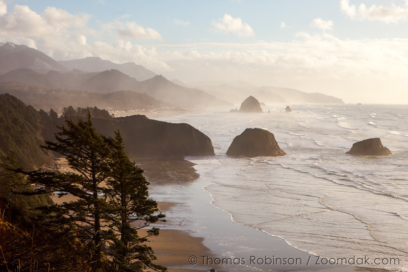 Winter View of Cannon Beach, Ecola State Park
