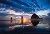 Haystack Rock Oregon Coast Sunset