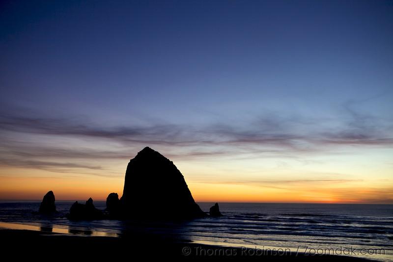 Haystack Rock Evening Glow