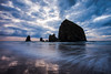 Storm Light at Haystack Rock