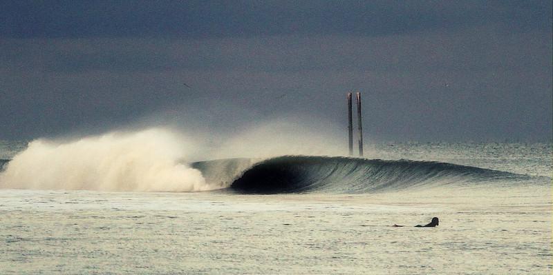 Center Pier-Hurricane Sandy swell