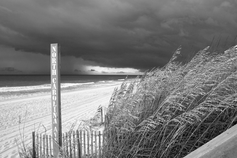 NC Ave beach access on a stormy day slideshow