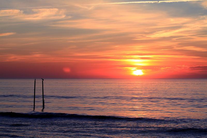 Center Pier sunrise 4-7-11  Pleasure Island, Carolina Beach