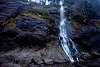 A tidefall - a waterfall that pores onto a beach - named Third Beach Falls (or Strawberry Bay Falls) cascades 119 feet to the tide pools below along the Olympic Coast.