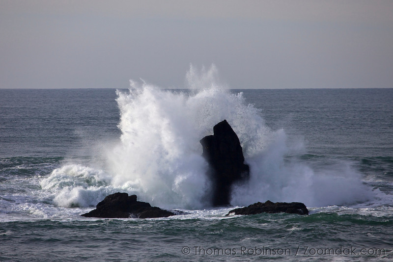 Stormy Wave Crash Oregon Coast