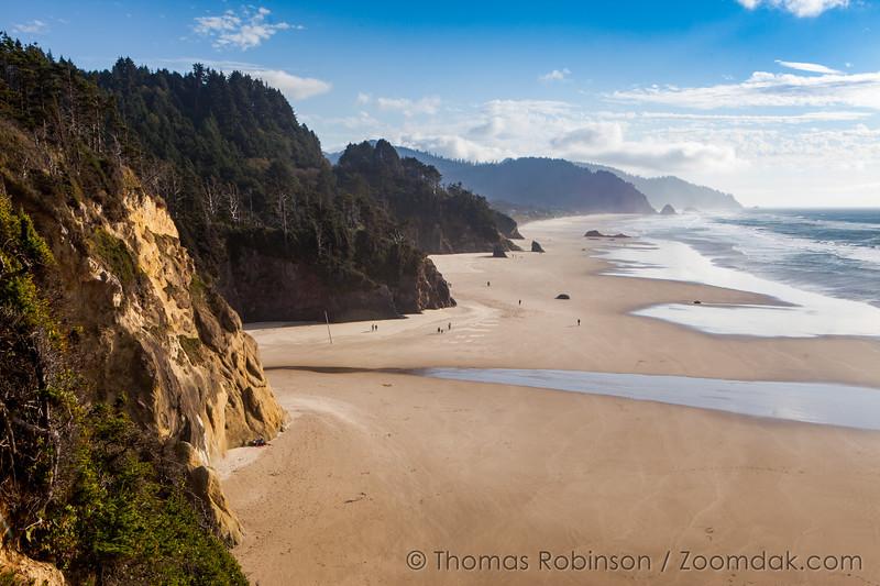 Hug Point South on the Oregon Coast