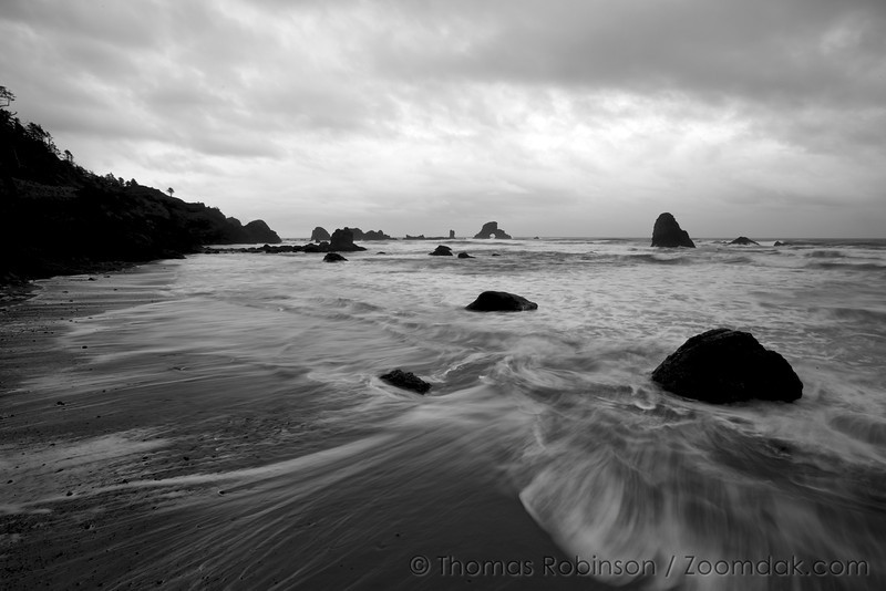 Black and White Seascape