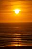 Lone Sunset Stroll
