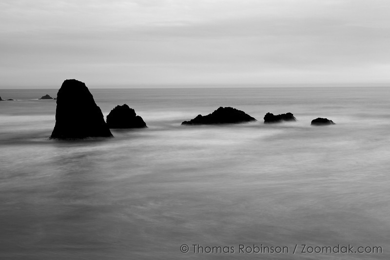 Black and White Evening Tide