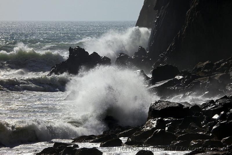Waves Crash Neahkahnie Cliffs