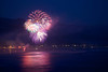 The finale of the Nehalem fireworks show explodes over the Pacific Ocean.