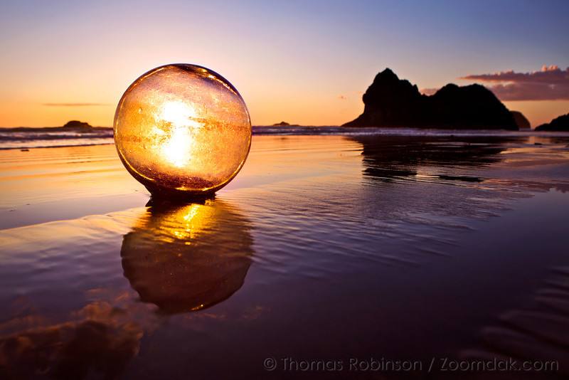 Glass Ball at Sunset, Oregon Coast