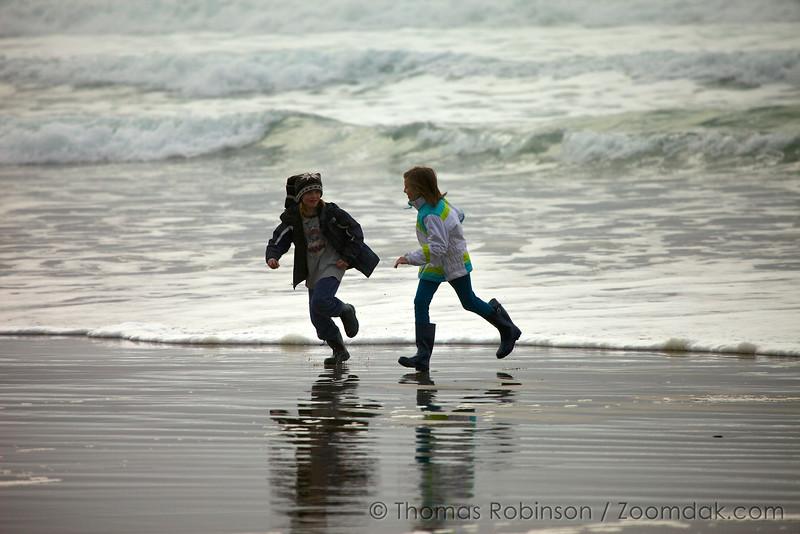 Wave Running Children