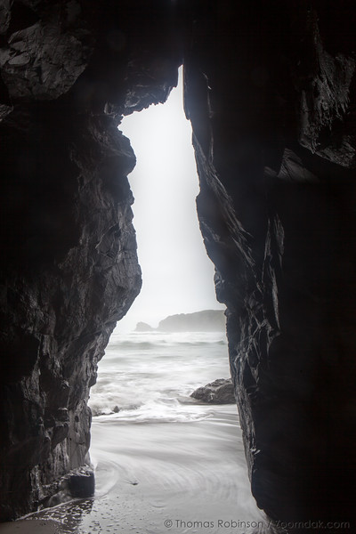 Rock Arch Seascape with Incoming Tide