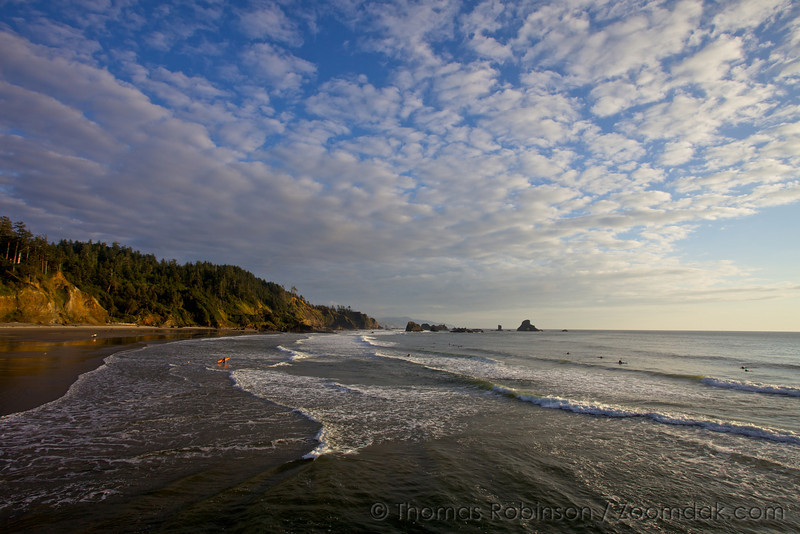 A beautiful day to be surfing at Indian Beach in Ecola State Park, Oregon.