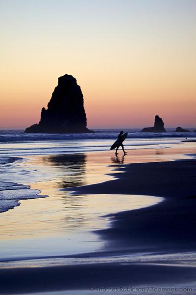 Sunset Surfer Stroll