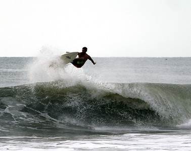 9-8-11 Surfing Carolina Beach, Pleasure Island, North Carolina
