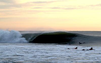 Carolina Beach, NC  Pleasure Island Hurricane Swell 9-8-11