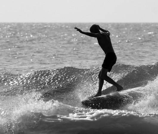 Jeremy near NC Ave Surfing Carolina Beach, Pleasure Island, North Carolina