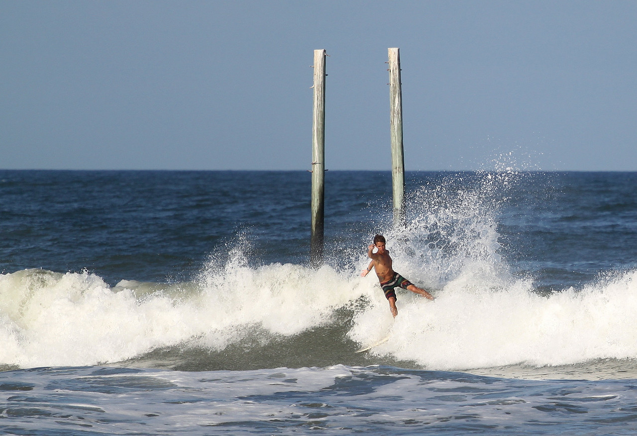 Nick at Center Pier in Carolina Beach, NC  Pleasure Island