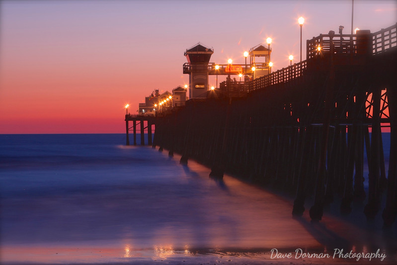 Oceanside Pier after Sunset