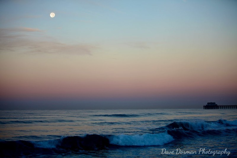 Full Moon at Sunrise