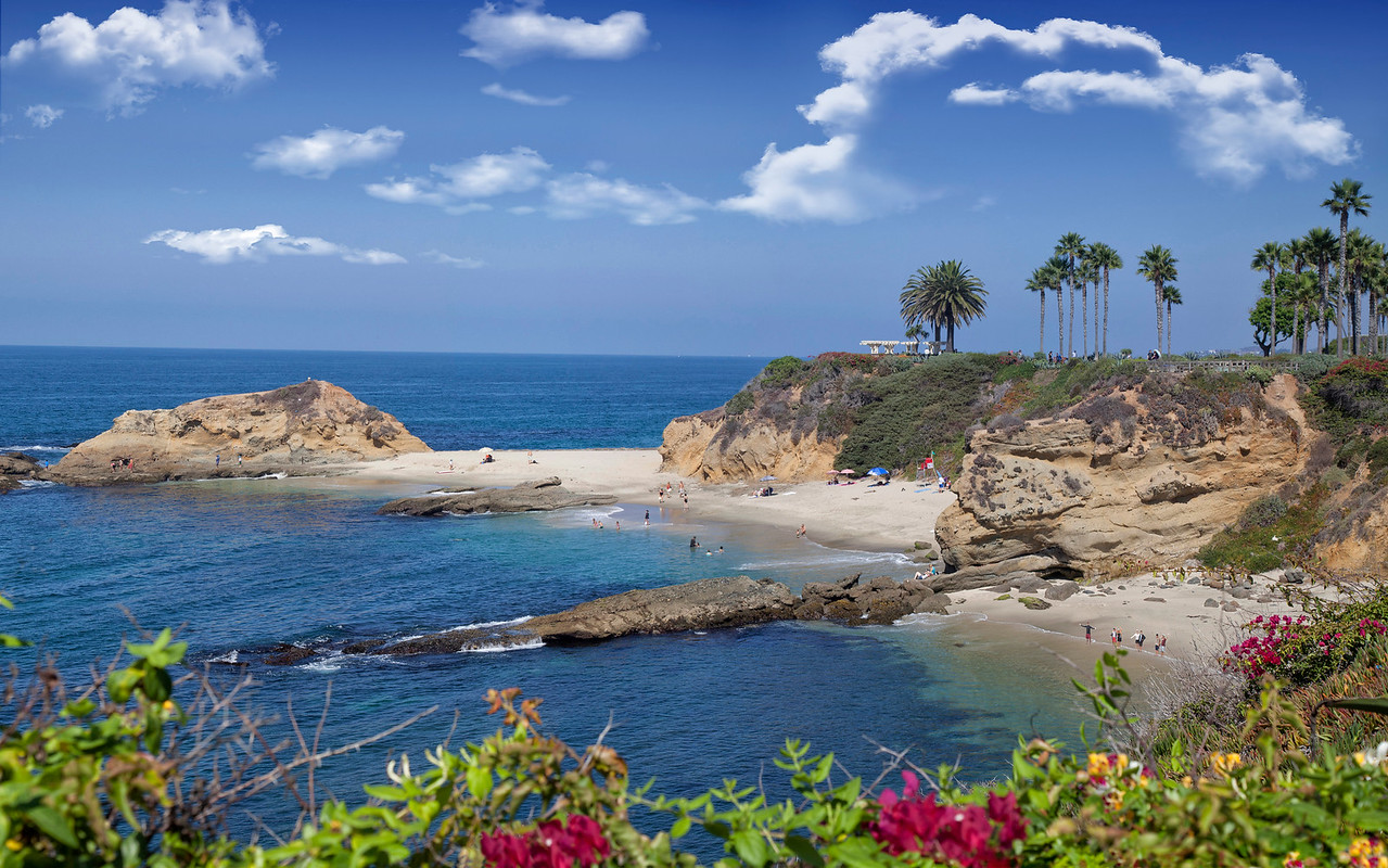 Welcome to Treasure Island Park and Beach next to Montage Resort in Laguna Beach, CA.<br /> Do you see the gang waving there on the beach?