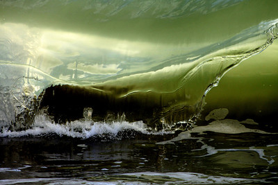 Carolina Beach wave.  Pleasure Island, North Carolina