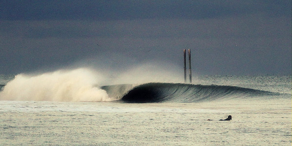 Center Pier-Hurricane Sandy swell