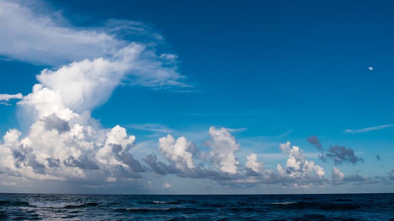 beach clouds moon