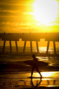 Sunrise on Jacksonville beach in Florida.  Photo by Kyle Spradley | www.kspradleyphoto.com