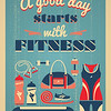 Fitness Vintage Poster.