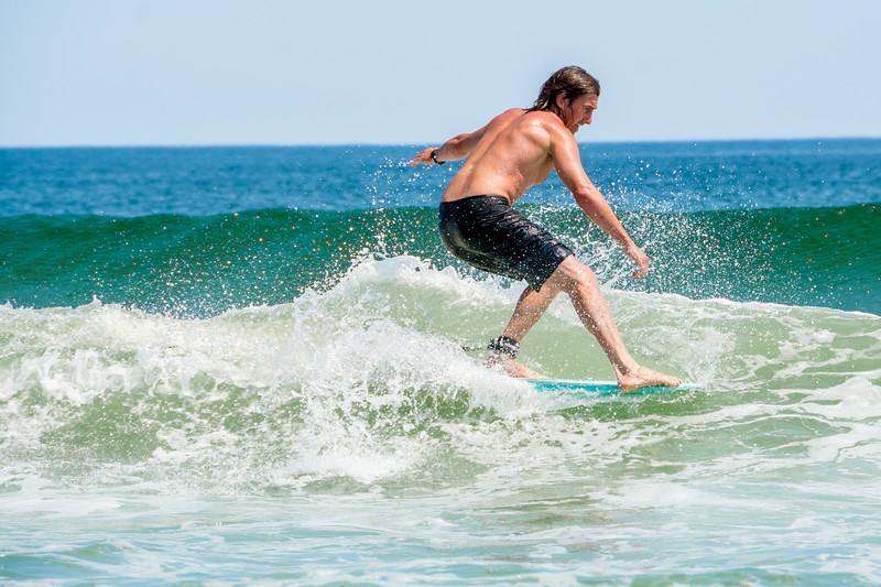 Surfing in Hapton Beach