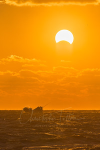 Boat Passing an Eclipse