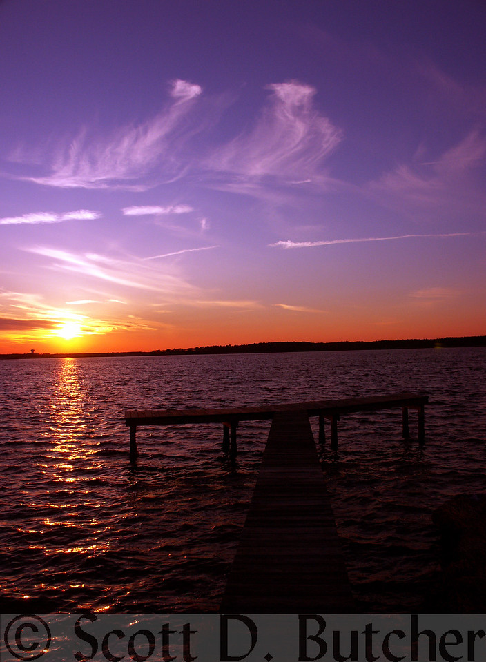 Sunset over the Assawoman Bay, Fenwick Island, DE.
