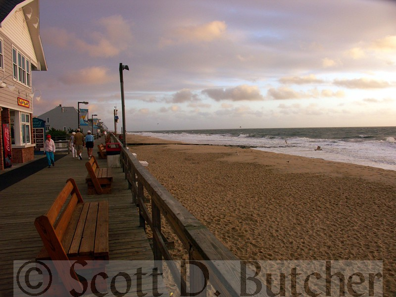 Dawn Arrives, Bethany Beach Boardwalk, DE.