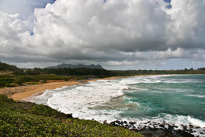 Kealia Beach, just north of Kapa'a on Hwy. 56, east Kaua'i.