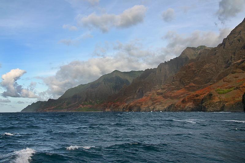 Headlands of the Napali Coast, northern Kaua'i.