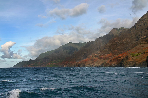 Headlands of the Napali Coast, northern Kaua'i.