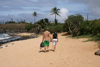 A crowded Fall day at Ho'okipa Beach, north Maui.