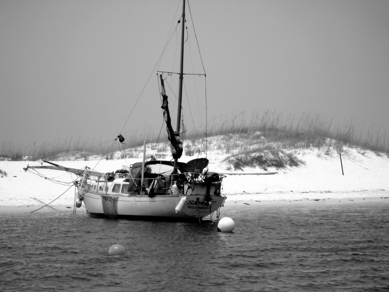Redneck Fishing Boat (B/W)