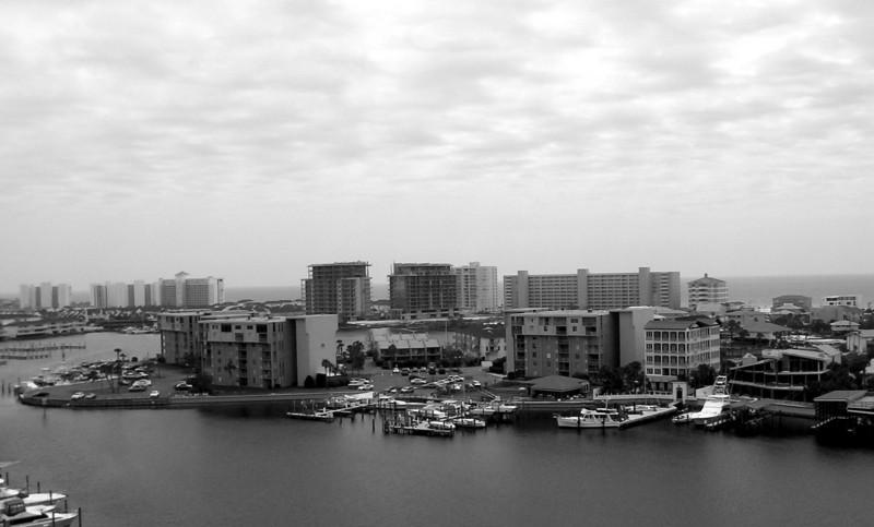 Destin Harbor View (B/W)